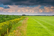 dramatic sky above dutch agricultural landscape