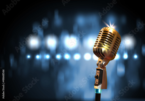 audio microphone retro style - 48668566