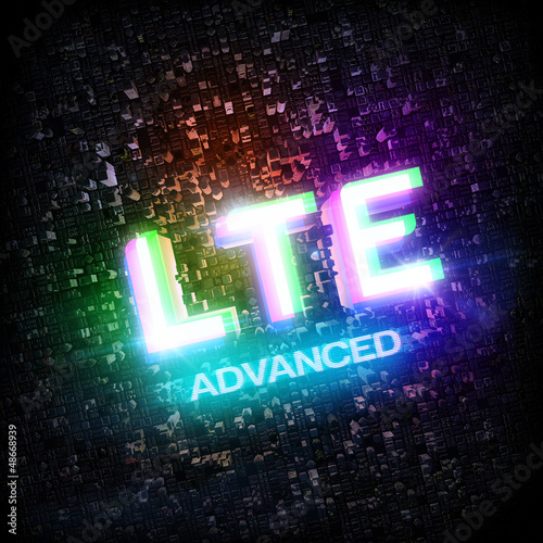 LTE ADVANCED highspeed concept cmyk