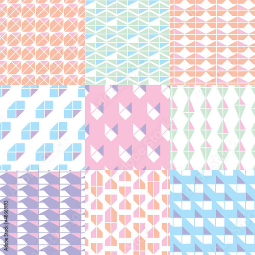 Seamless retro pastel pattern background in vector