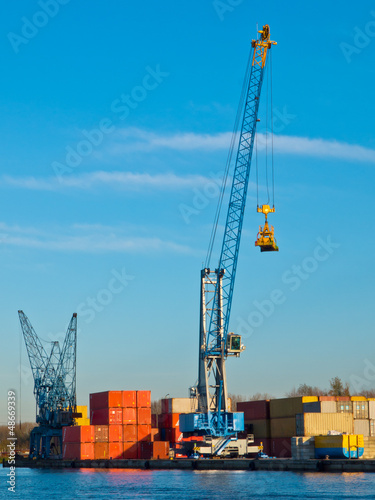 Crane in a harbour