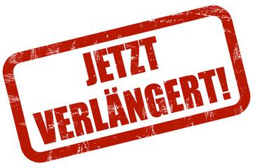 Grunge Stempel rot JETZT VERLÄNGERT
