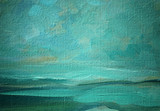 sea landscape oil on a canvas,  illustration, painting