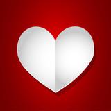 Valentine day empty page heart