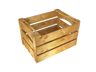 Wooden crate. 3D isolated