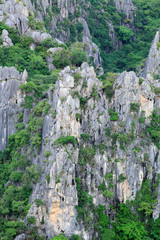 Close up of carbonate mountain - Khao Dang,Sam roi yot, Thailand