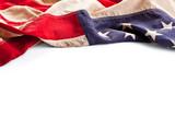Vintage American flag border isolated on white background - 48672340
