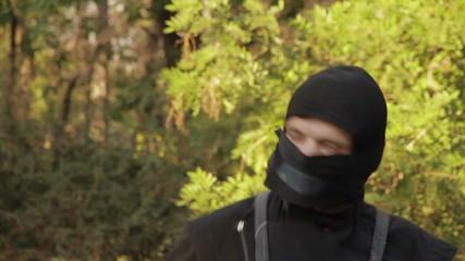 Nunchuck ninja turns in the woods