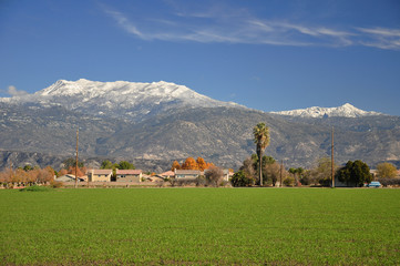 Snow-capped Mt. San Jacinto
