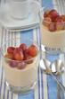 Vanillepudding mit Weintrauben