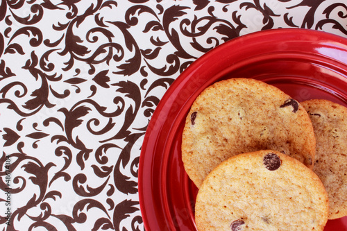 Cookies on a Red Plate 1