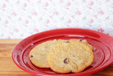 Cookies on a Red Plate 6