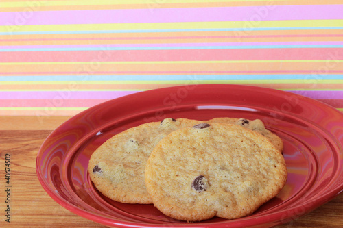 Cookies on a Red Plate 7