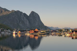 Lofoten Island Norway Fjord view at sunset