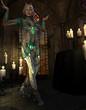 Kriegerin beim Ritual
