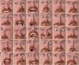 Details of large facial expressions poster