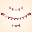 Valentine bunting with birds