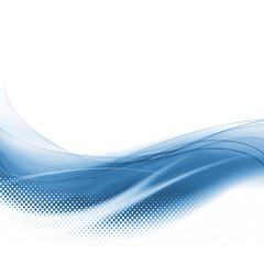 Fond bleu courbe