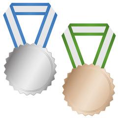 Medaille Silber und Bronze