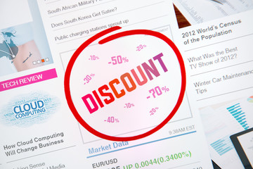 Discount internet advertisement