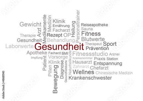 canvas print picture Gesundheit