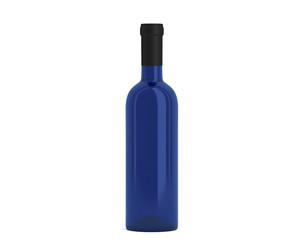 Weinflasche blau