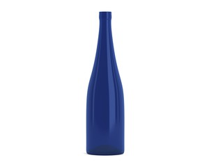 Weinflasche schmal blau