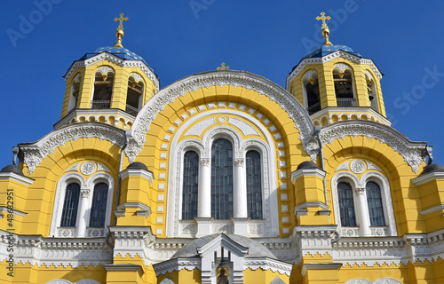 Saint Vladimir orthodox cathedral in Kiev, Ukraine
