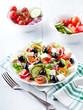 Greek Salad on Kitchen Table