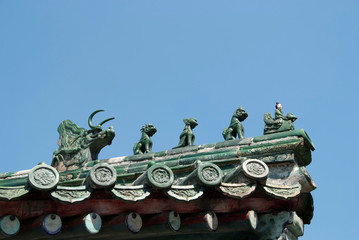 Chinese Dragons on rooftop