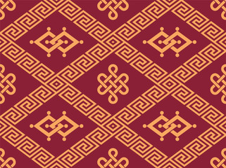 Oriental Seamless Tile - Traditional Pattern