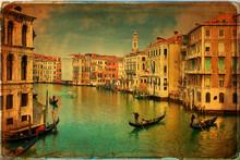 Venise - Gondoles à Grand Canal