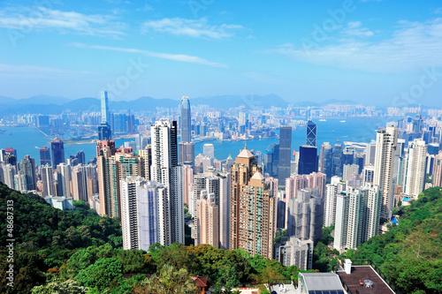 Poster, Tablou Hong Kong architecture