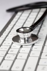 Stethoskop mit Tastatur