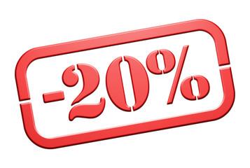 Cachet Remise -20%