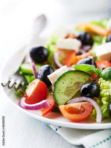 Close up of Greek Salad