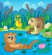 River fauna theme image 2