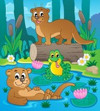 River fauna theme image 3 poster