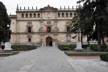 Facade of the Alcala de Henares University, Madrid, Spain