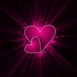 Valentines day pink bright colorful shiny rays heart vector back