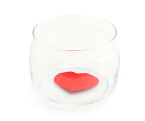 heart in a glass jar