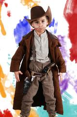 Junge als Cowboy