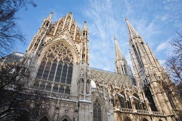 Vienna -  Votivkirche  neo - gothic church from south
