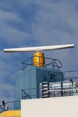 Modern navigation radar against the sky