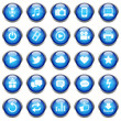 25 Vektor Icons // Homepage Buttons - Blue (02)