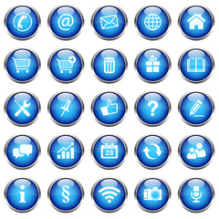 25 Vektor Icons // Homepage Buttons - Blue (01)