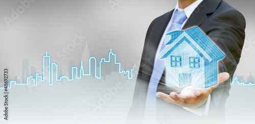 Businessman city concept