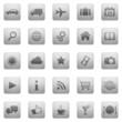 25 Vektor Icons // Homepage Buttons - Grau Quadratisch (03)
