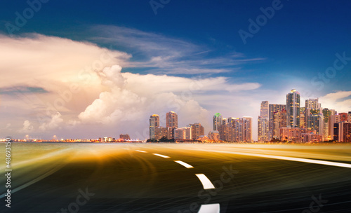 Abstract background illustration of fast highway  roadd