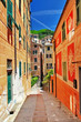 Camogli, colorful streets of Ligurian coast